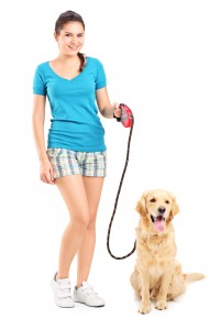 http://www.dreamstime.com/stock-photo-full-length-portrait-young-girl-walking-dog-isolated-white-background-image44147260